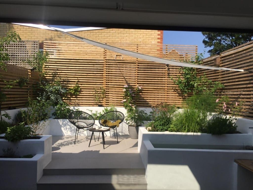 Kitchen extension to ground floor flat, terrace