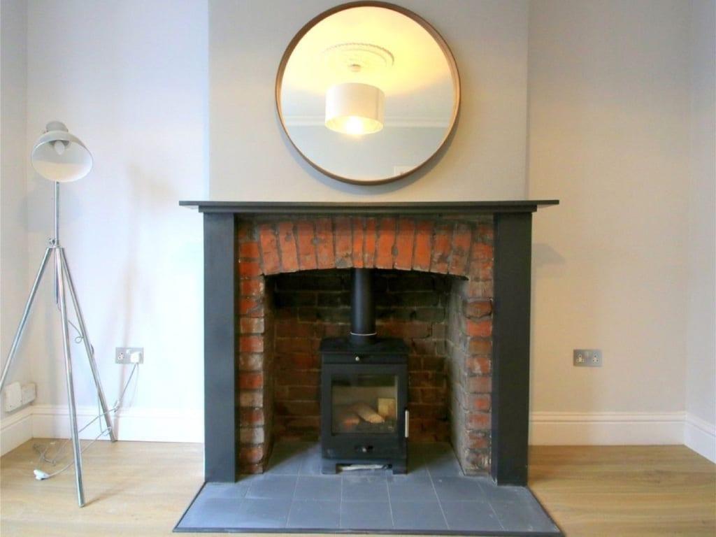 Overhauled victorian fireplace