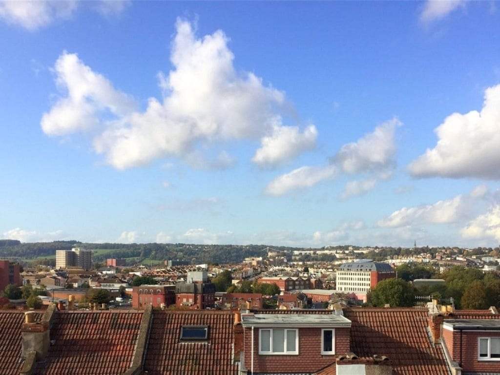 view of bristol from loft conversion