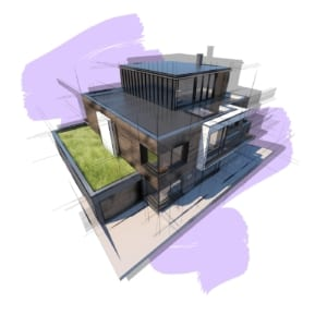 Concept visual of new build dwelling house