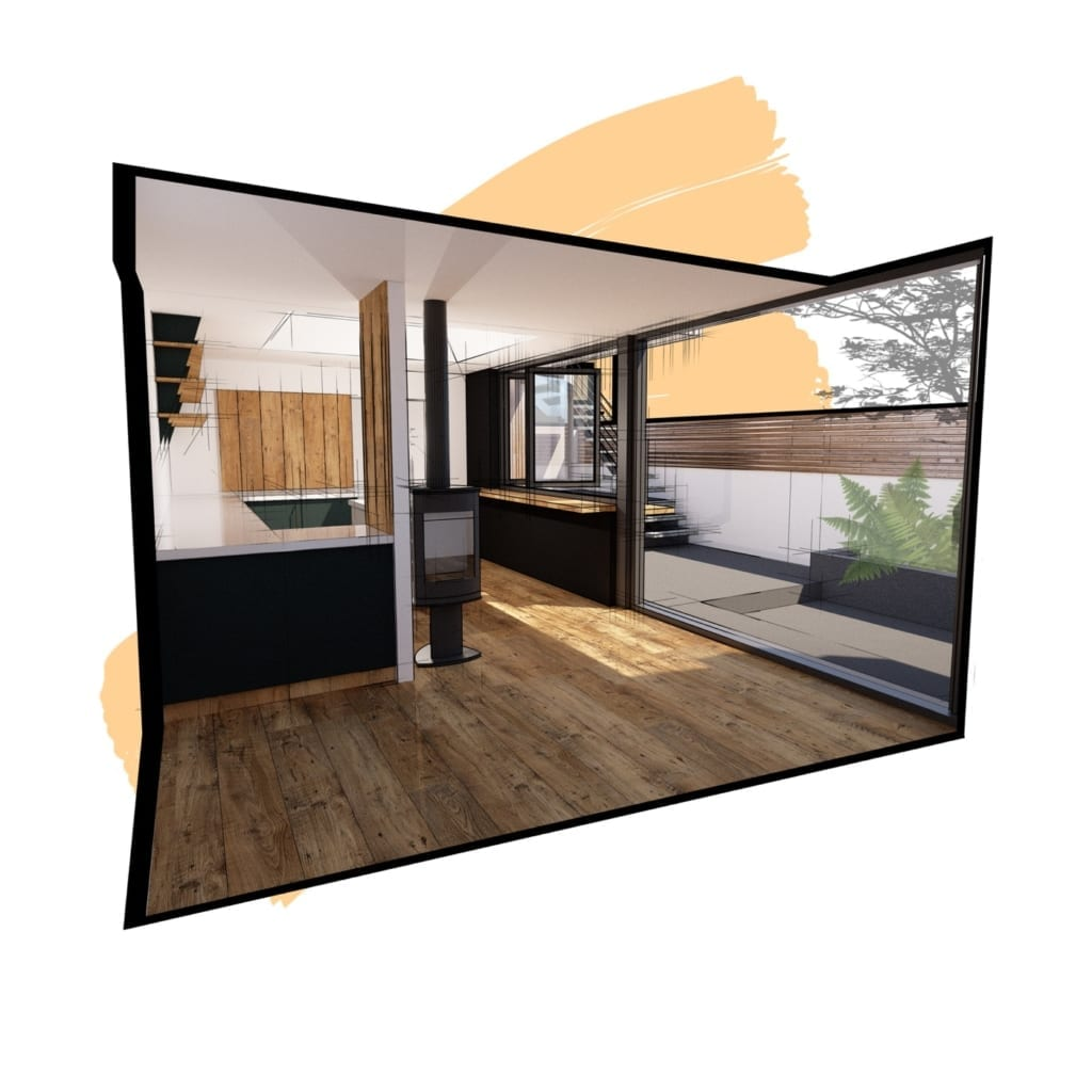 Concept visual of kitchen alterations