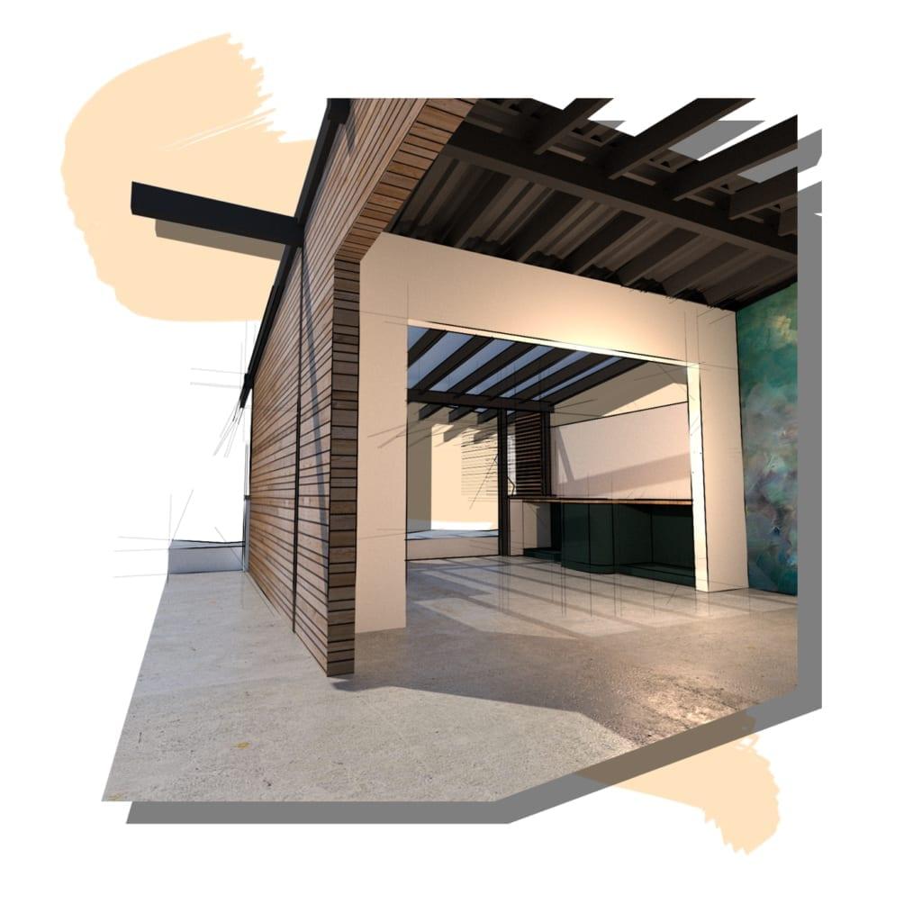 Concept visual of a garage conversion